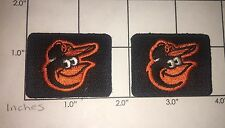 Baltimore Orioles Baseball Logo Patches   MLB Maryland  Patch Lot of 2