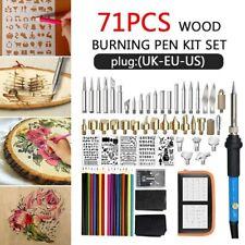 71PCS Wood Burning Pen Löten Handwerk Werkzeuge Set Pyrography Tipps Kit