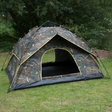 2 3 Person Camo Waterproof Camping Fishing Festival Instant Pop Up Tent 215X215