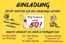 Neues Angebot20 Lustige Einladungskarten Geburtstag Einladungen Knackiges  Alter 30 40 50 60
