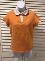 Lilly Pulitzer Orange White Short Sleeve Polo Shirt Medium