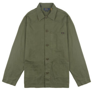 Polo Ralph Lauren Twill Utility Overshirt Army Olive - SALE