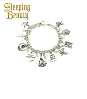 Disney's Sleeping Beauty (10 Themed Charms) Assorted Metal Charm Bracelet