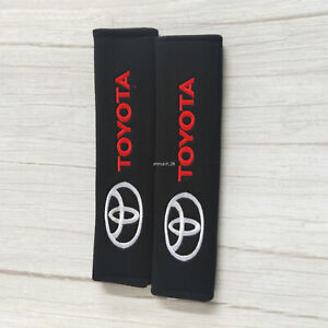 2 Pack Black  Car Seat Belt Shoulder Pads for TOYOTA