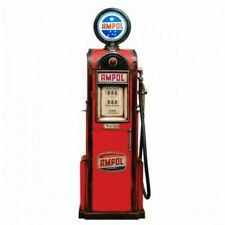 AMPOL PETROL PUMP COLLECTABLE HAND CRAFTED . BRAND IN BOX . METAL