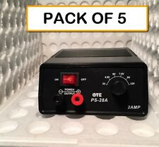 (PACK OF 5)  PS-28A TATTOO POWER SUPPLY 3-12VDC @ 2 AMP