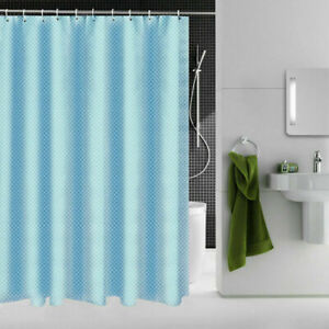 New Waterproof Polyester Fabric Bathroom Shower Curtain & Ring Hooks 180 x 200CM