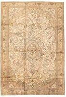"Hand-knotted Turkish Carpet 6'7"" x 9'8"" Keisari Vintage Traditional Wool Rug"