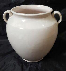 Pot à graisse ancien, pot à confit (les 2 anses sont fêlées)