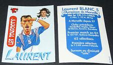LAURENT BLANC MARSEILLE VACHE QUI RIT TOUFOOT'S FOOTBALL FRANCE 98 1998 PANINI