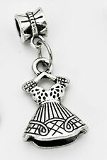 COOL Fashion diva girl ladies dress doll European bead Charm Sterling Silver Jew