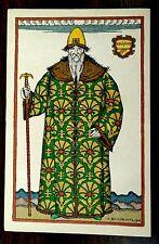 Art Nouveau Costume Opera Boris Godounow Bilibin Imp. Russia rare 1908 Postcard