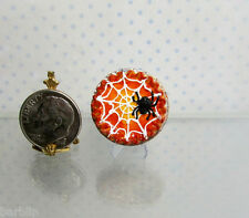 Dollhouse Miniature or Fairy Garden Spider Web Pie