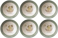 "WEDGWOOD SARAHS GARDEN (GREEN) 6 CEREAL BOWLS 17cm/6.5"" - NEW/UNUSED (SARAH'S)"