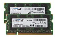 Crucial 4G RAM Kit 2x 2GB PC PC2-5300 DDR2 667MHz 200pin Sodimm Laptop Memory