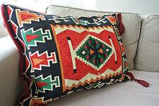 Kilim Patterned Rectangular Pillow Cushion Cover Geometric Ethnic Rustic Tribal