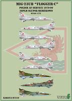 Karaya Decals 1/72 Mikoyan MiG-23UB Vernis Air Force #D7210