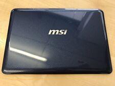 MSI Wind U135DX U135 MS-N014 Top Lid LCD Rear Cover Blue 012AC24P899