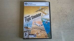 MICROSOFT FLIGHT SIMULATOR X DELUXE EDITION - FSX BASE PC GAME ORIGINAL COMPLETE