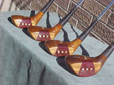 Genuine PERSIMMON Powerbilt Citation Golf Clubs Set Woods Driver 3 4 5 New Grips