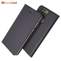 Magnetic PU Leather Flip Case Shockproof Card Cover for Huawei Honor 8
