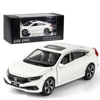 1:32 Honda Civic Metall Die Cast Modellauto Spielzeugauto Kinder Sammler Weiß
