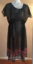 FREE PEOPLE LIGHTWEIGHT TUNIC BABY DOLL BOHO FESTIVAL DRESS SIZE L