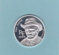 A113 FRANCE 1996 VAN GOGH SILVER PROOF 10 FR. 1 1/2 EURO