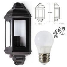 5W LED Half Lantern PIR Motion Movement Sensor Traditional IP44 Outdoor Light