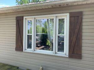 Rustic Wood Shutters - Indoor Decorative Wood Shutters - Outdoor Exterior Wood S