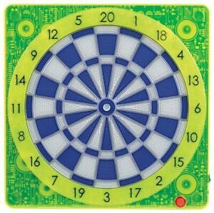 Electronic Dart board Soft Tip  6pcs Darts  Scoreboard Dartboard 19 inch