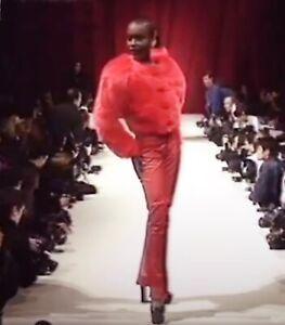 VIVIENNE WESTWOOD 1992/ 93  Always on camera Black  faux fur short jacket Orb