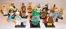 LEGO Series 10 full complete set x16 MINIFIGURES Bumblebee Girl Medusa AUTHENTIC