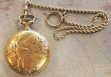 17 Jewel Wind Up Works Fine Vintage Antique Ever Swiss Pocket Watch