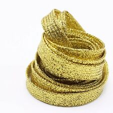 Lacci Scarpe Colorati Glitter, Shoe laces Metallic  Gold Oro