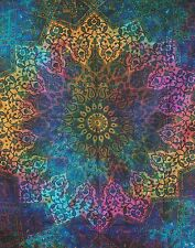 Indian star Tie Dye tapestry gypsy throw bohemian multi wall hanging decor home