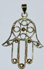 New Metal Hand Pendant Necklace - Hippy Ethnic Aum Namaste Hindu Jewellery