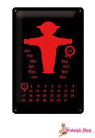 Letrero De Metal cotidianos Calendario-DDR- TALLA 30cm x 20cm - Placa de metal