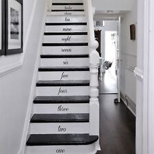HAND WRITTEN NUMBERS FOR STAIRS Wooden Wall Art, Decal, Sticker, Quality NEW