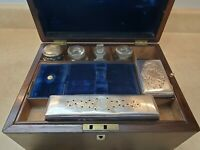 English Regency Vanity Box Secret Compartments W James Watt Apothecary Bottles