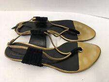 Christian Dior Black & Gold Gladiator Sandals 10
