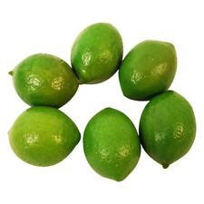 6 x Realistic Lifelike Artificial Plastic Lime Lemon Fruit Food Fake Home D K6I0