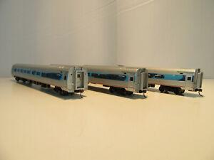 Bachmann Spectrum HO Scale Amtrak Acela Amfleet Lighted Passenger Cars. Set of 3
