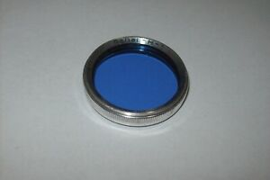 VINTAGE ORIGINAL ROLLEI H-1 BAY 1 FILTER BLUE FOR ROLLEIFLEX CAMERAS