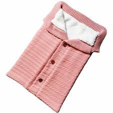 Newborn Baby Knit Crochet Swaddle Wrap Swaddling Blanket Warm Sleeping Bag NEW