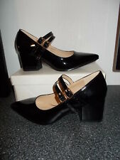 HEAVENLY SOLES Black Patent Shoes Size 4 E NEW