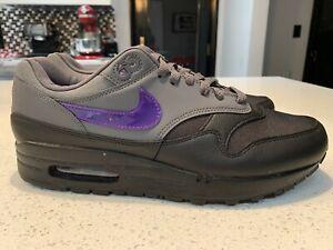 Nike Air Max 1 Dark Grey Fierce Purple Black AR1249-002 Mens Size 9.5