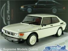 SAAB 99 TURBO MODEL CAR MUSEUM WHITE 1977 1:43 SCALE IXO ATLAS 3898034 K8