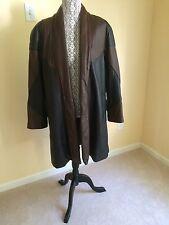 Vtg 1980s Super Soft Preston & York Swing Coat Jacket Lamb skin Leather Size M