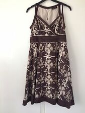 Ladies brown and cream, flared Principles dress